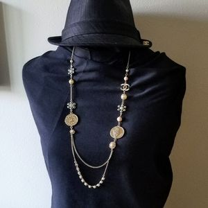 Beautiful chanel coin charm necklace